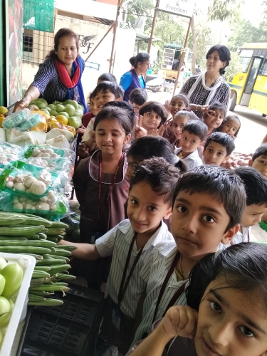 Pre Primary Field Trip Vegetable Market