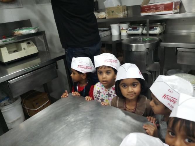 Pre Primary Field Trip to Krispy Kreme Doughnut Factory