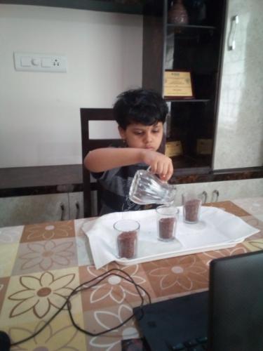 Montessori-Pouring Grains Activity