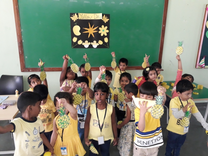 Yellow day Celebration - LKG