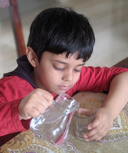 Pouring liquids Activity