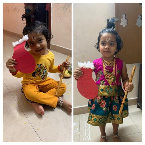 Montessori-Krishna Janmashtami Activity