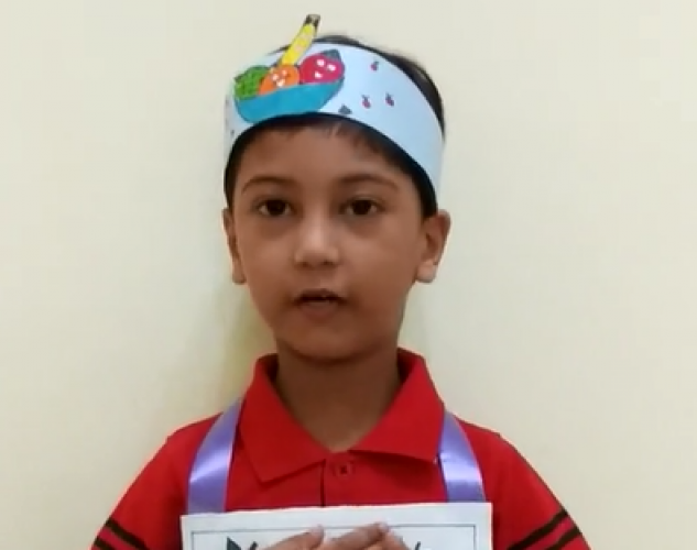 Montessori B Juniors Poem Recitation - Sreejith