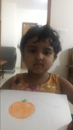 LKG Show and Tell Activity - Aneisha