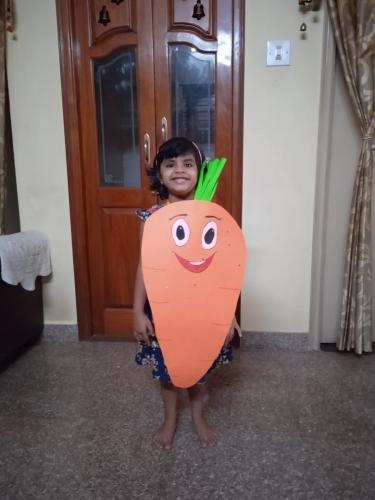 LKG-Fancy dress -Fruits and Vegetables-Advika
