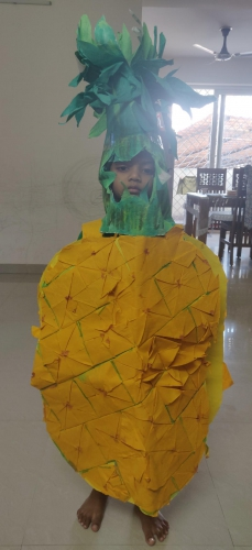 UKG- Fancy dress on Fruits and Vegetables - Rayhaan