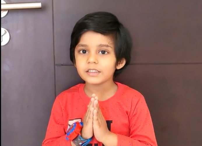 Montessori B Juniors Poem Recitation - Keyan