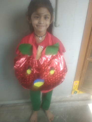 UKG- Fancy dress on Fruits and Vegetables - Panika