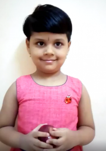 Montessori Red Day - Aadhya Padmanabhan