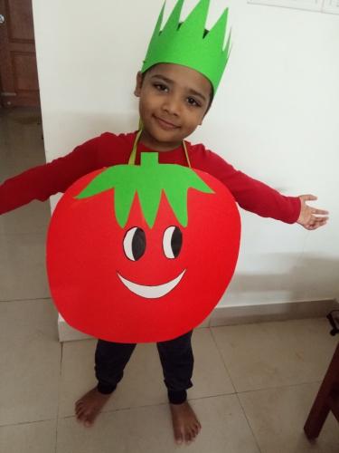 UKG- Fancy dress on Fruits and Vegetables - Shivam