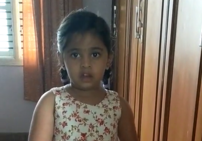 Montessori B Juniors Poem Recitation - Nandini